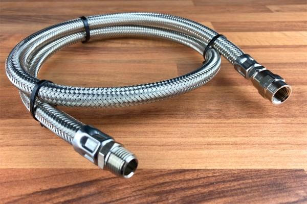 """Stahlflexleitung 1/4"""" Außengewinde, zur Kompressorverlängerung"""