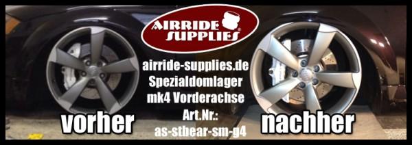 Domlagerset Tieferlegungsdomlager & Domplatten für VW Golf 4 Plattform