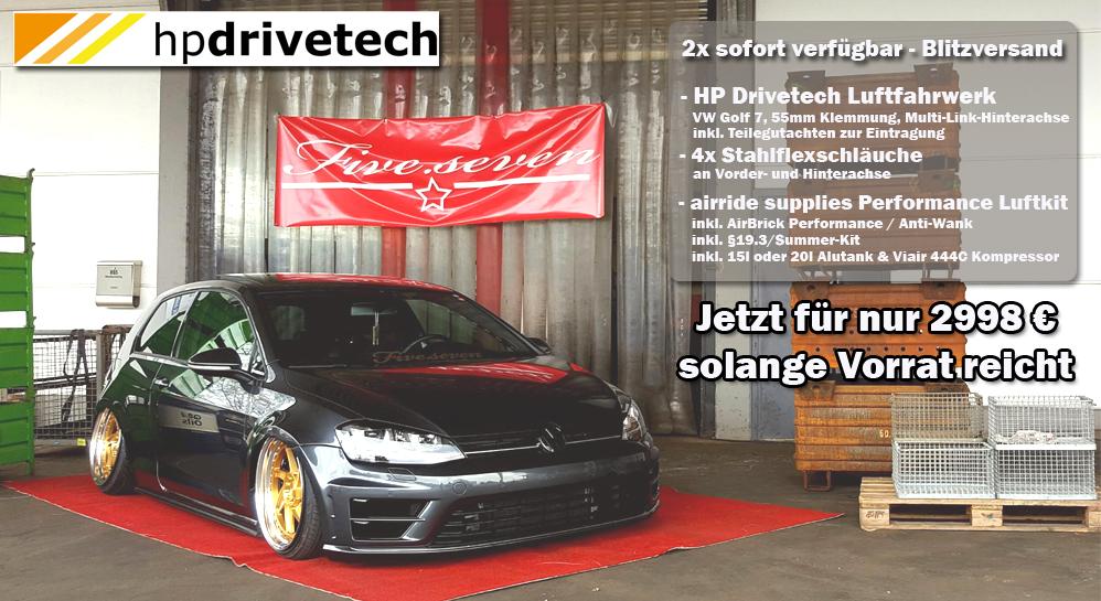 VW Golf 7 (AU) Komplettsystem HP Drivetech mit Performance Luftkit