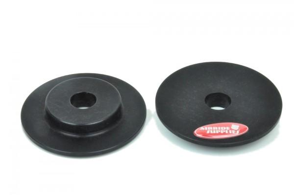 Alu-Domplatten für Spezialdomlager Golf 4, schwarz eloxiert