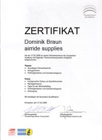 Bilstein-Zertifikat