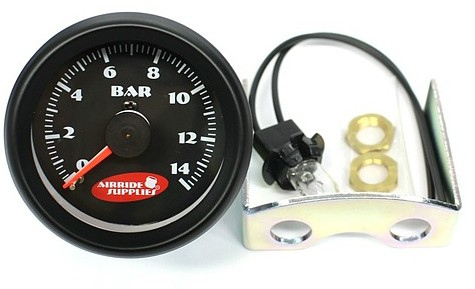 airride supplies Doppeldruckmanometer 0-14bar schwarz