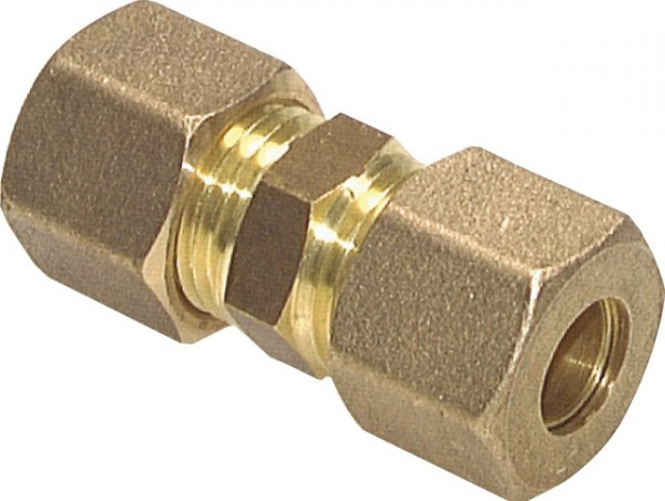 Rohrverbinder Messing Klemmringverschraubung 6mm