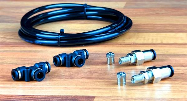 Notbefüllung per KFZ-Reifenventil für Steckfittinge