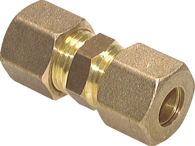 Rohrverbinder Messing Klemmringverschraubung 10mm