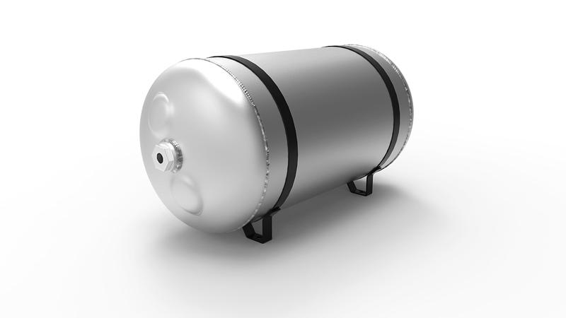 airride supplies 15l Lufttank Aluminium, 4x 3/8