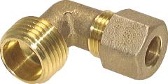 """Winkel Messing Klemmringverschraubung 3/8"""" AG 10mm"""