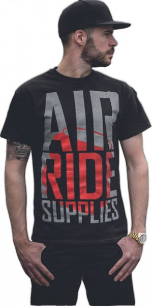 "airride supplies T-Shirt ""redBag"", schwarz"
