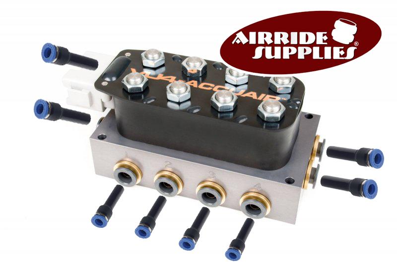 Umbau-Kit auf 10mm Schläuche für AccuAir VU4-Ventilblock - NEU -