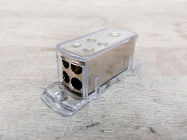 Stromverteilerblock 25mm² -> 4x10mm², vergoldet